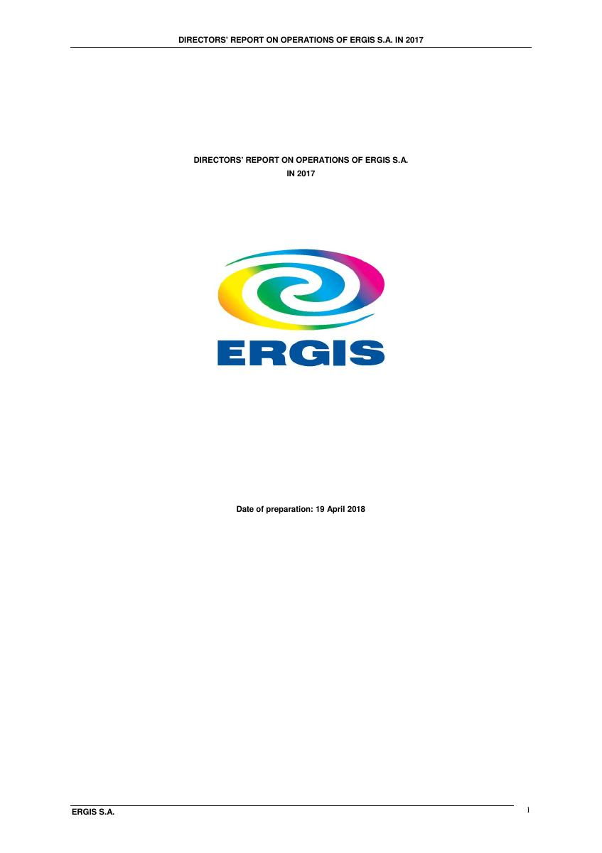 DIRECTORS' REPORT ON OPERATIONS OF ERGIS S.A. IN 2017.pdf