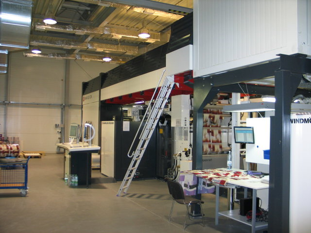 Production line for flexible packaging printing