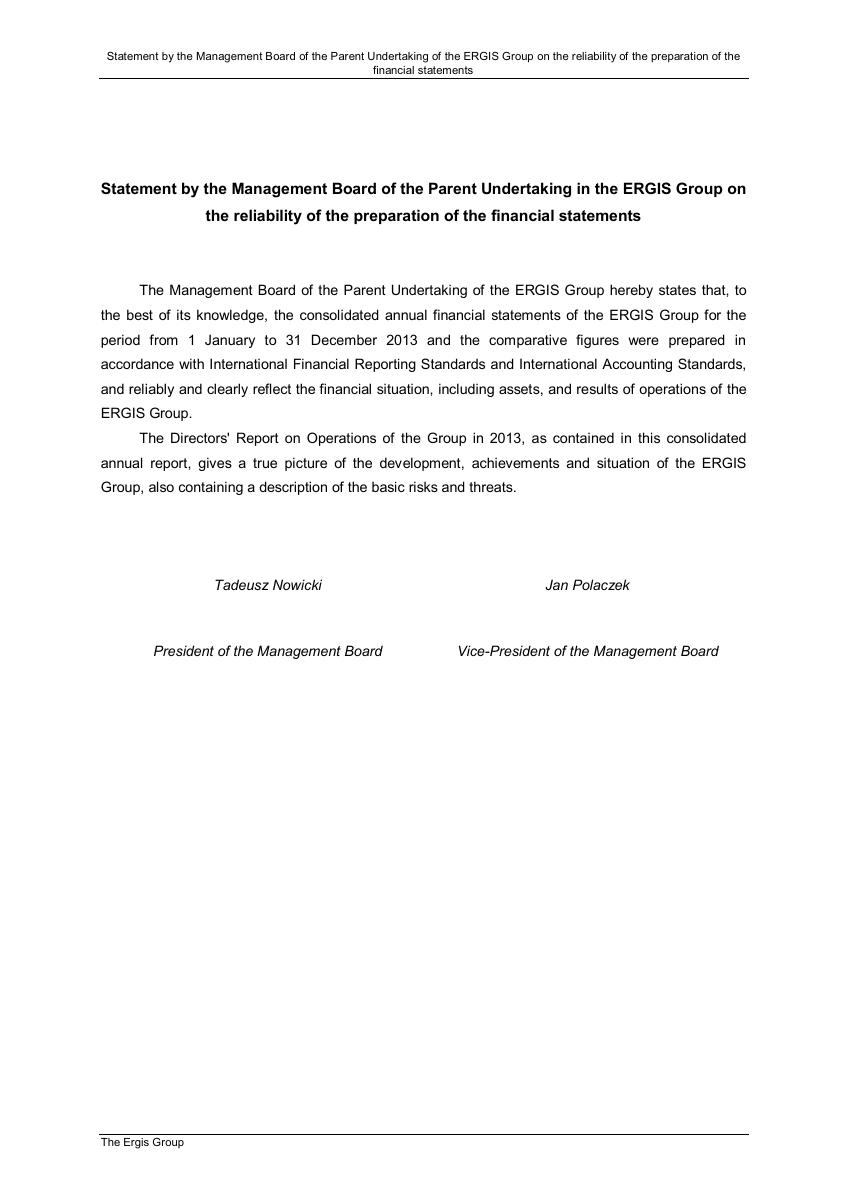 statement-on-the-entity-authorised-to-audit-the-consolidated-financial-statements-of-the-ergis-group