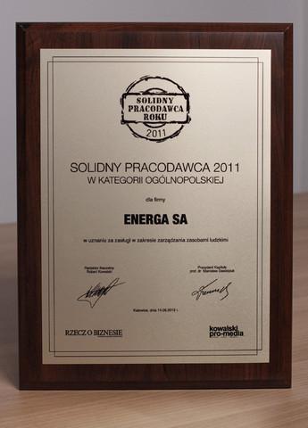 Energa - Solidny Pracodawca Roku 2011
