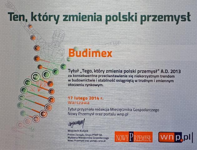 Tytuły Tego, który zmienia polski przemysł dlaBudimeksu